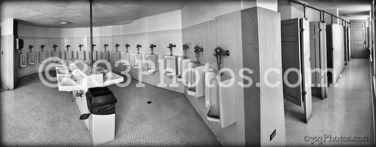Scottish Rite Cathedral mens bathroom in San Antonio, Texas.