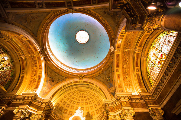 Inside Dome of the Santiago Metropolitan Cathedral