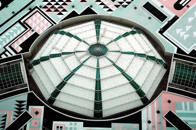 """Roof of the shopping arcade of Petronas Twin Towers, Kuala Lumpur, Malaysia. The geometric pattern of the islamic heritage was used to design the floor plates. The exterior is a combination of glass and stainless steel. <br />  <a href=""""http://www.klcc.com.my"""">http://www.klcc.com.my</a>"""