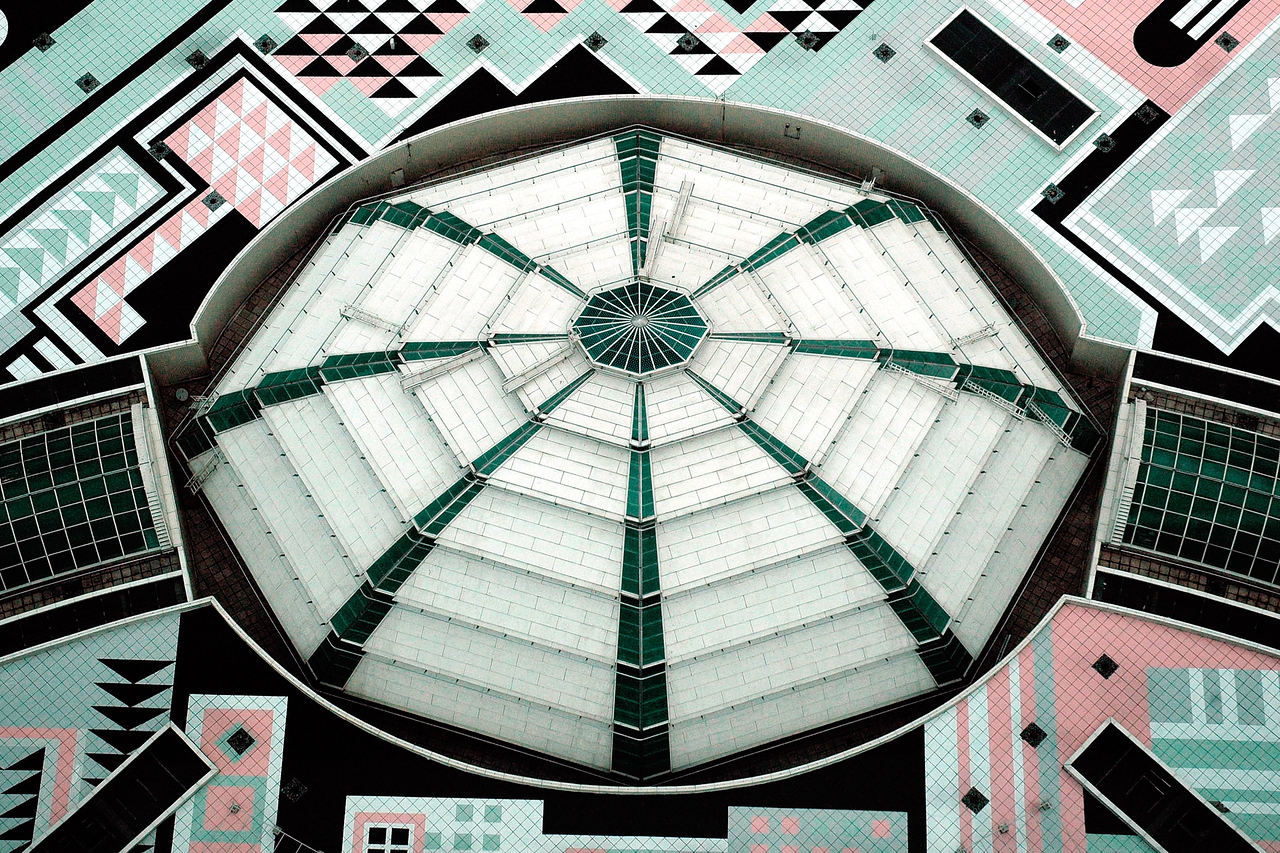 "Roof of the shopping arcade of Petronas Twin Towers, Kuala Lumpur, Malaysia. The geometric pattern of the islamic heritage was used to design the floor plates. The exterior is a combination of glass and stainless steel. <br />  <a href=""http://www.klcc.com.my"">http://www.klcc.com.my</a>"