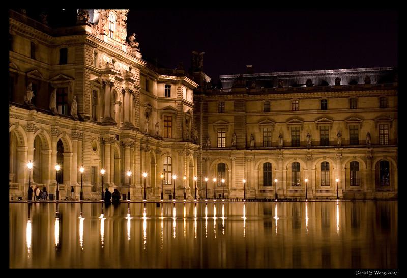Couple at The Louvre. Paris, France.