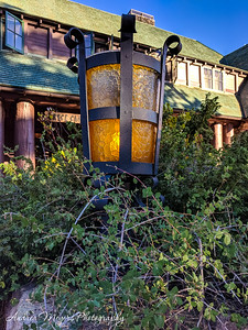 Lamp post, Bryce Canyon Lodge, Utah