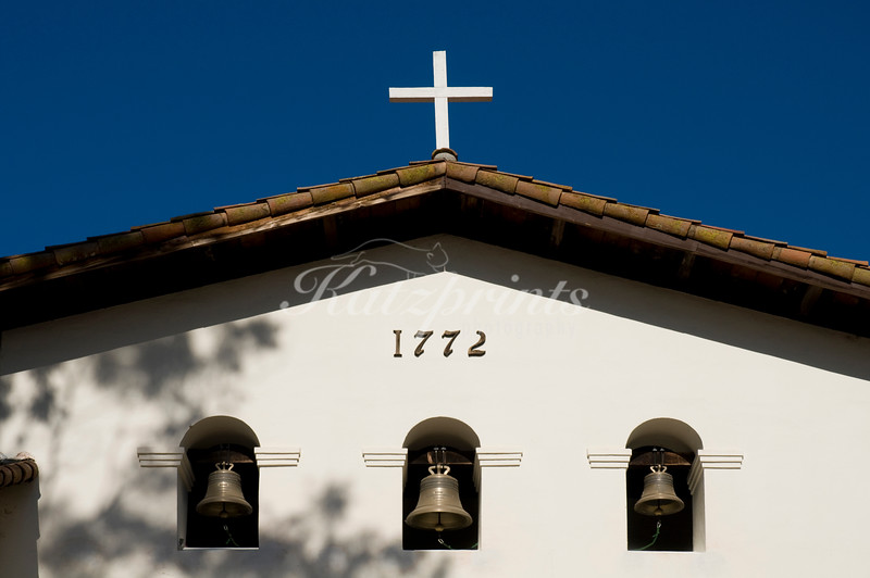 Belfry of Mission San Luis Obispo de Tolosa (founded 1772) in San Luis Obispo, California