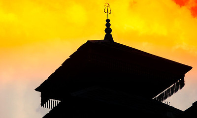 Om. Temple in Naggar, Manali.  Edited this picture using Nik Software