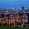 <H3>The Painted Ladies</H3> My take on the famous row houses next to Alamo Square with views of the San Francisco Skyline in the background