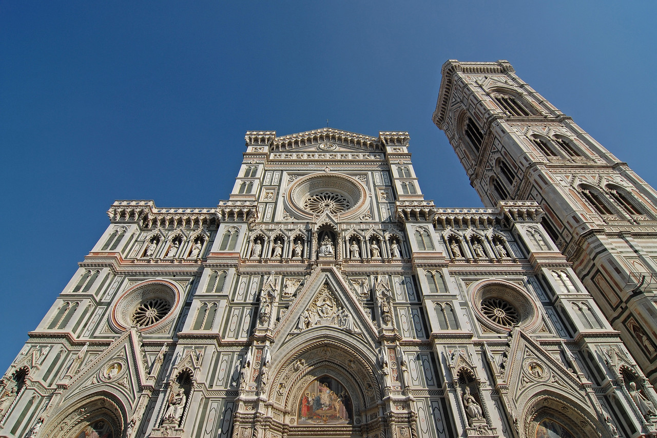 Duomo (Cathedral) Florence (Italian; Firenze, Florentia and Fiorenza) is the capital city of the Italian region of Tuscany, and of the province of Florence. It is the most populous city in Tuscany and has a population of approximately 364,779.<br /> <br /> The city lies on the Arno River and is known for its history and its importance in the Middle Ages and in the Renaissance, especially for its art and architecture.