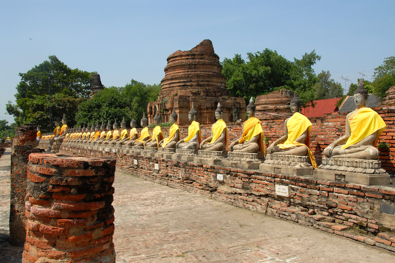 Buddha and buddhist statues and relics in Ayutthaya, Thailand. The kingdom of Ayutthaya (Thai: ??????????????) was a Thai kingdom that existed from 1351 to 1767. King Ramathibodi I (U Thong) founded Ayutthaya as the capital of his kingdom in 1351.