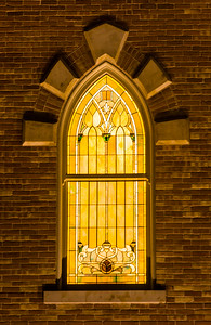 Illuminated Stained Glass Window - Provo City Center  LDS Temple - Utah
