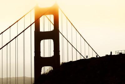 Golden Gate Bridge basking in the sun