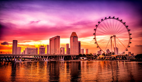 Singapore Flyer Sunset