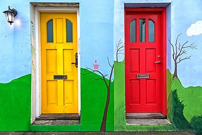 Reykjavik doors, Iceland
