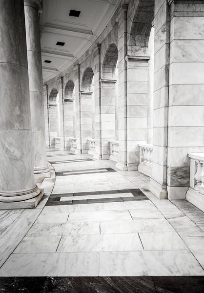 Hallway at  the Memorial Amphitheater - Arlington National Cemetery - Virginia