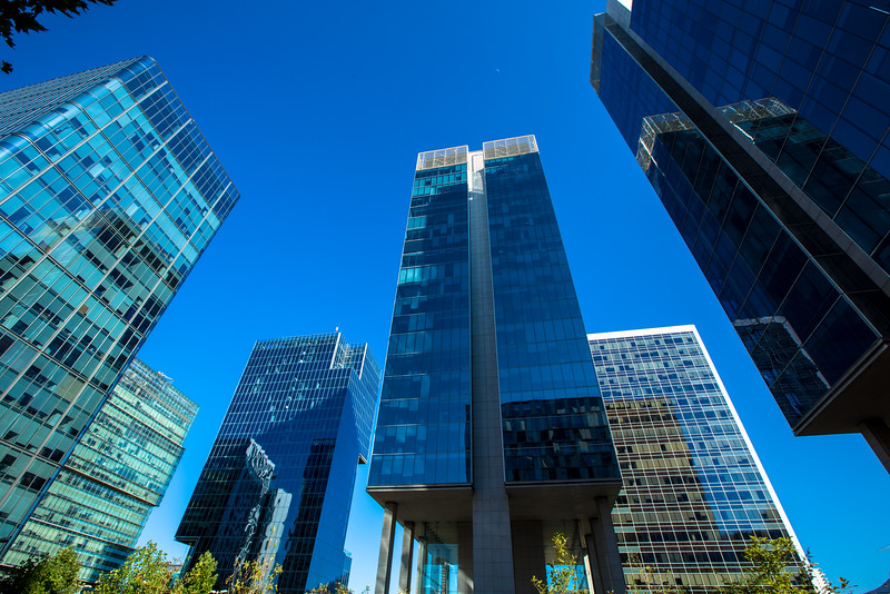 Skyscrapers in the Business District of Santiago, Chile