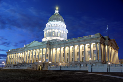 Utah State Capitol at Night - Salt Lake City