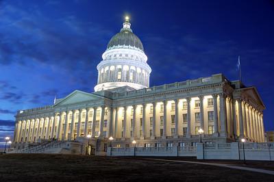 Utah State Capitol at Night - Salt Lake City