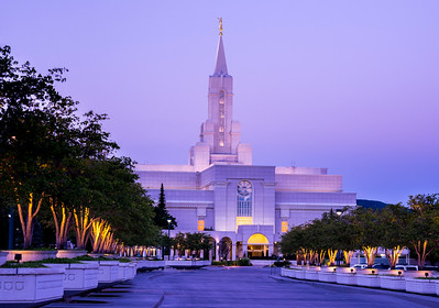 Bountiful Mormon (LDS) Temple Sunrise - Utah