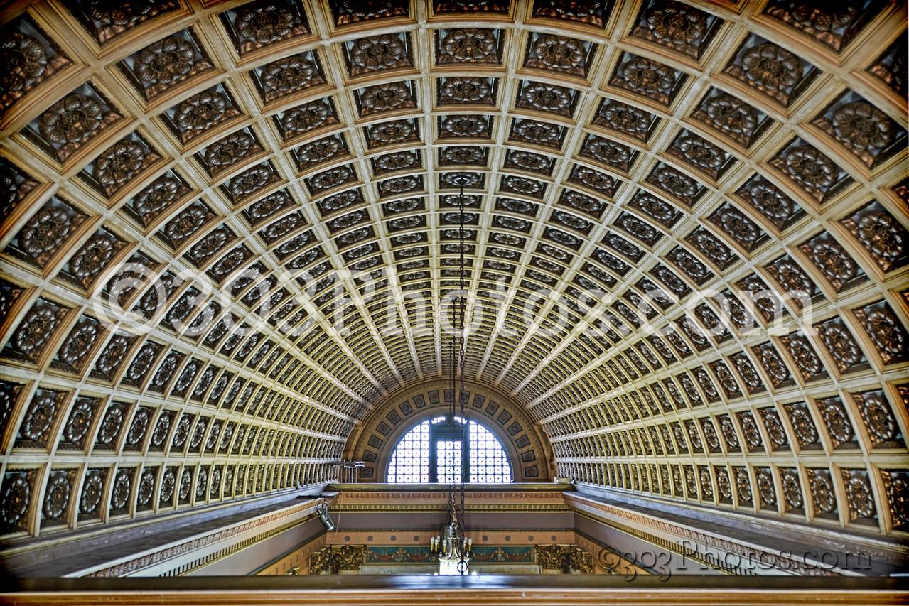 Scottish Rite Cathedral lobby ceiling in San Antonio, Texas.