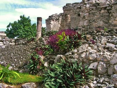 Tulum Column Mayan Ruins