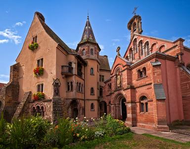 St. Leon Castle & Chapel, Eguisheim, France