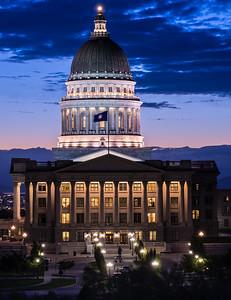 Utah State Capitol Building at Sunset - Salt Lake City - Utah