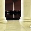 View of Washington Monument at Night from Thomas Jefferson Memorial - Washington D.C.