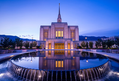 Ogden Mormon LDS Temple at Sunrise - Utah
