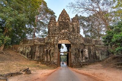 South gate of Angkor Thom. Cambodia