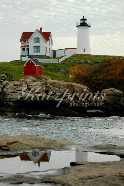 "Cappe Neddick Light Station, also called ""Nubble Light"", in York, Maine"