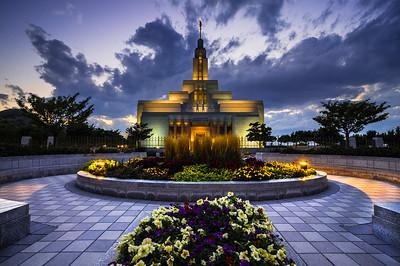 Draper Mormon (LDS) Temple at Sunset - Utah