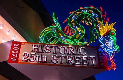 Ogden's Historic 25th Street Neon Dragon Sign - Utah