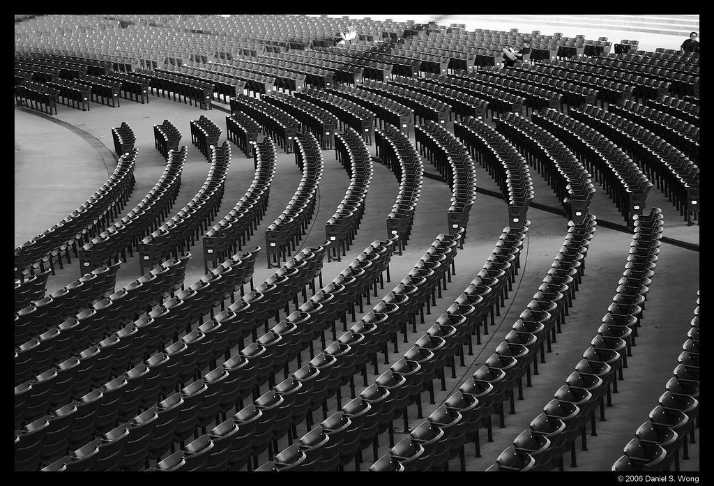 Seating at the Jay Pritzker Pavillion. Millenium Park, Chicago.