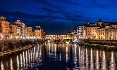 Blue hour at Ponte Vecchio