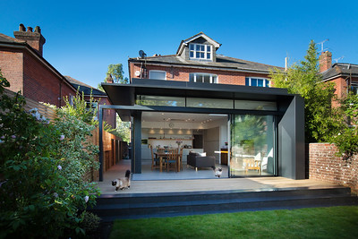 Extension on Victorian house, Winchester