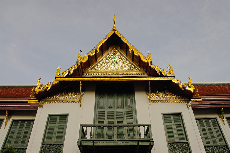 Thai architecture as seen in this golden coated roof in Bankgok, Thailand