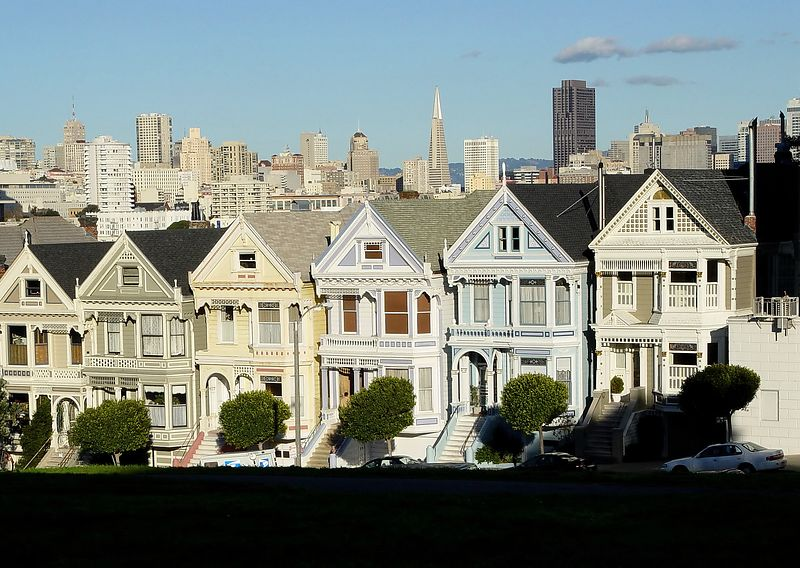 View from Alamo Square, San Francisco, CA.