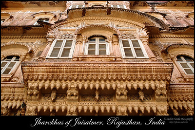 Jharokas of Jaisalmer, Rajasthan, India