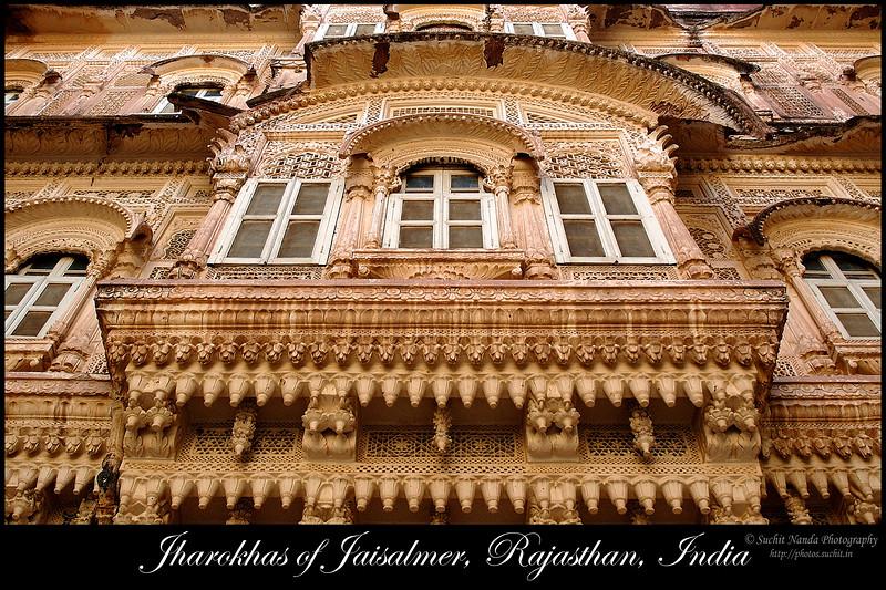 Jharokas of Jaisalmer, Rajasthan, India