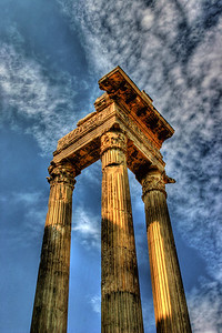 The remains of something that was no doubt amazing at the time. Located in the Roman Forum in Rome Italy.