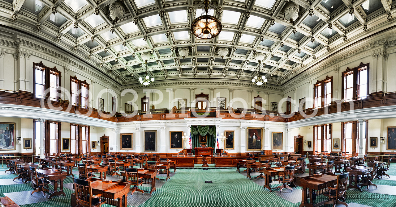 Senate Chamber at the Texas Capitol in Austin.