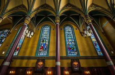 Interior of the Cathedral of the Madeleine - Catholic Church - Salt Lake City, Utah