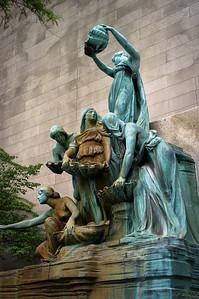 Art Institute Statues