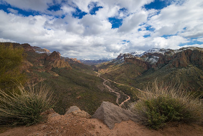 Atop Fish Creek Hill, along the Apache Trail, Arizona