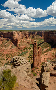 Spider Rock at Canyon De Chelly National Monument, Arizona