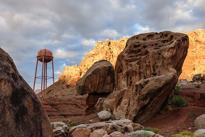 Water Tank and Boulders at Lees Ferry, Arizona