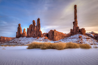 Totem Pole and Yei Bi Chei, Monument Valley, Arizona