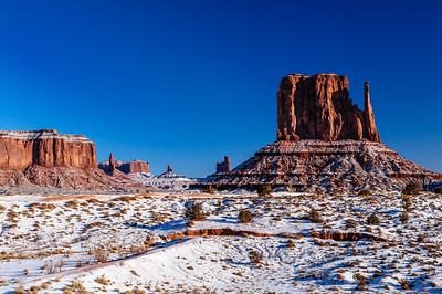 Winter in Monument Valley, Arizona