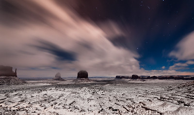 Christmas Eve in Monument Valley, Arizona