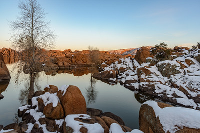 Watson Lake in Winter, Arizona