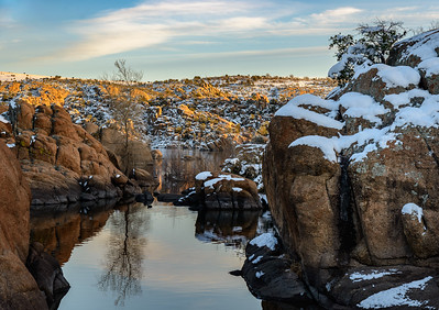 8455 Watson Lake Winter Sunset