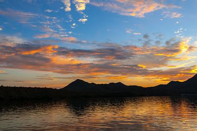 Saguaro Lake Sunset, Arizona